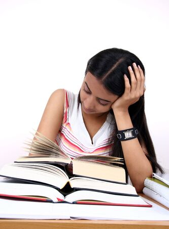 Indian student preparing for exams. Stock Photo - 2911895