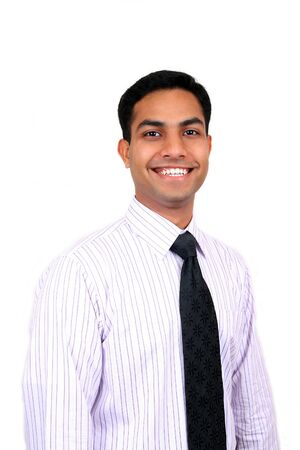 adult indian: Young Indian business man smiling. Stock Photo
