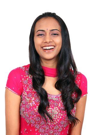 fille indienne: Belle jeune Indienne souriante. Banque d'images