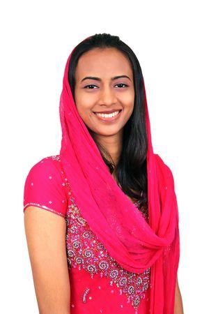 femmes muslim: Belle jeune Indienne.