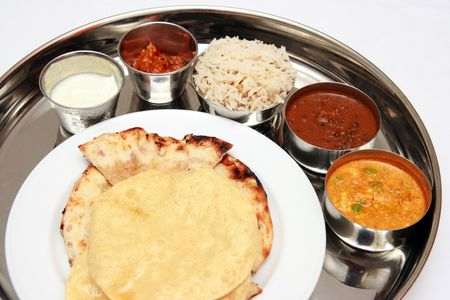 North Indian Thali  版權商用圖片