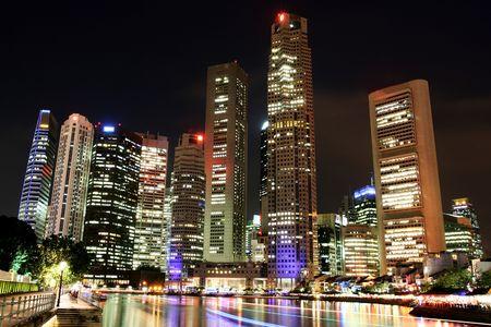 Singapore Skyline at night photo