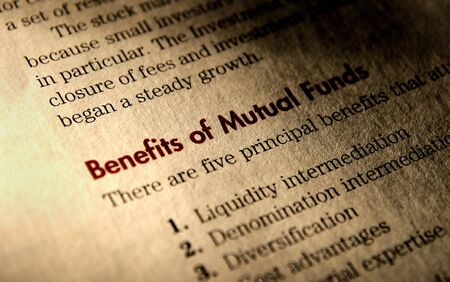 Benefits of Mutual Funds. Stock Photo - 5075195