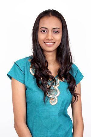 bollywood: Bella muchacha india. Aislado en blanco. Foto de archivo