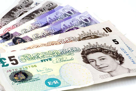 esterlino: British pounds isolated on a white background.
