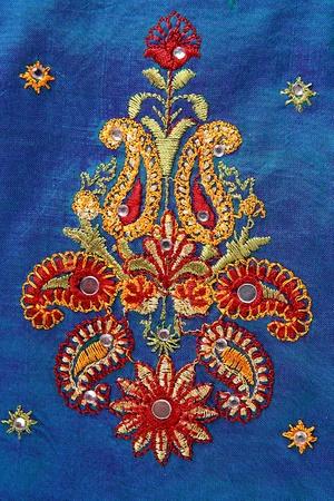 Close up of an Indian Saree design. photo