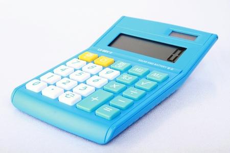 Digital calculator on a white background. photo