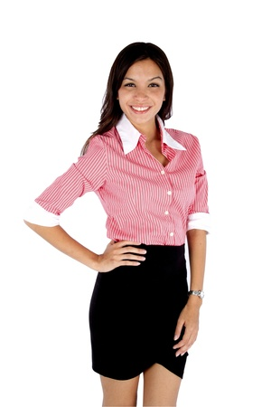 Portrait of young business woman smiling. Stock Photo - 10612261