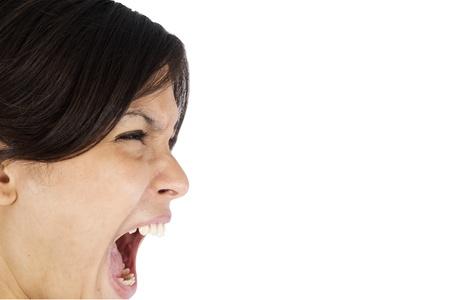 Young business women shouting. photo
