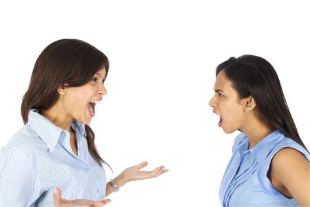argumento: Las mujeres j�venes discutiendo de negocios.