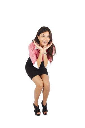 Beautiful mixed race businesswoman smiling with surprise Stock Photo - 13245118