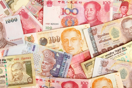 Background of asian currency  photo
