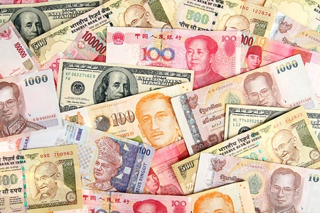 Background of asian currency Stock Photo - 15065619