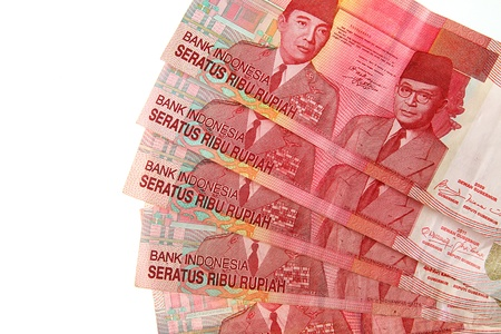 Indonesian Rupiah on a white background  photo