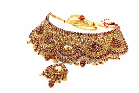 Indian jewelry isolated on a white background Stock Photo