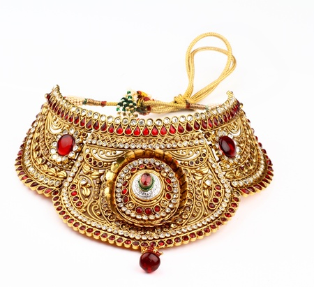 Indian jewelry isolated on a white background photo