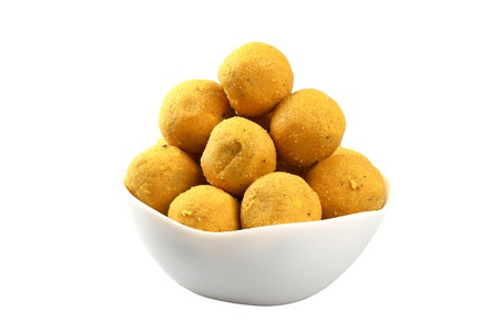 Indian Sweets isolated on a white background