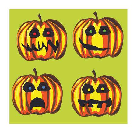 hallowen: Hallowen pumpkins Illustration
