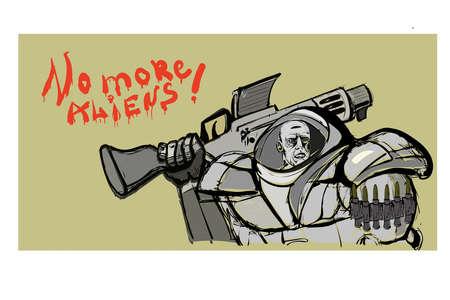 armoured: marine Illustration