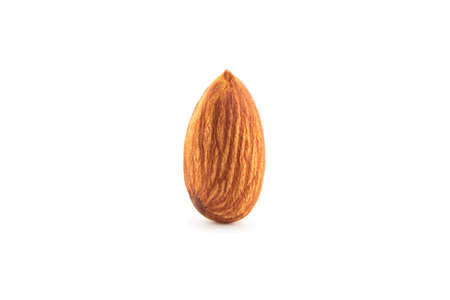 Almond seed isolated on white background