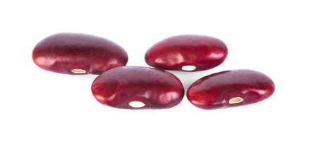 Red bean isolated on white background.