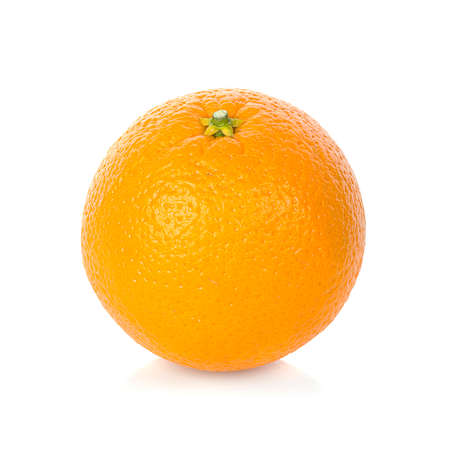 Fresh orange isolated on white background