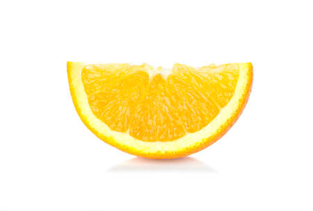 Orange fruit. Orang slice isolate on white.