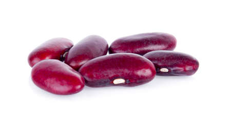 Red bean on white background