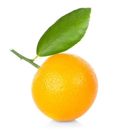 Fresh orange isolated on white background.