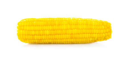 Sweet whole kernel corn on white background.
