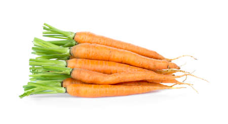 fresh carrots isolated on white 免版税图像 - 148686543