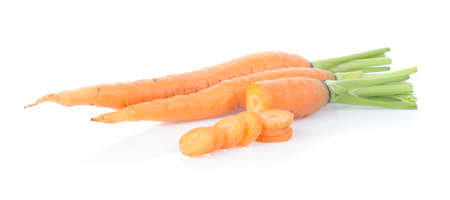 fresh carrots isolated on white background 免版税图像 - 148686553