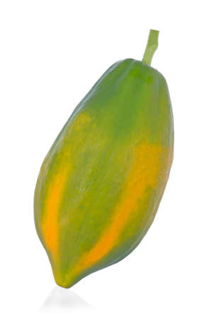 Papaya isolated on white backgroound.