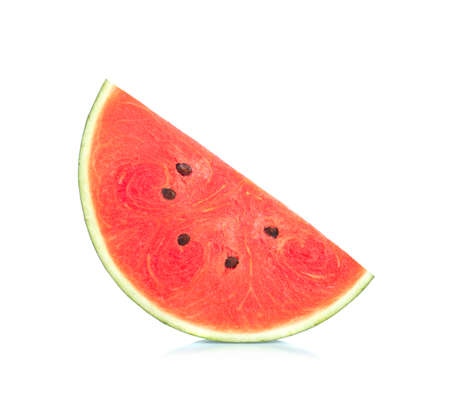 Slice of Watermelon isolated on white background. 免版税图像 - 148688486