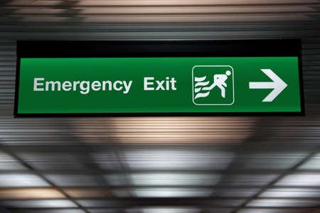 emergency exit: Emergency Exit Sign