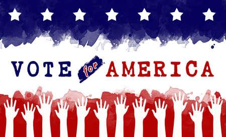 vote for America, election concept Stock Photo