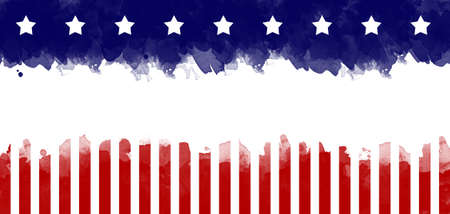 American flag grunge greeting card background Stock Photo