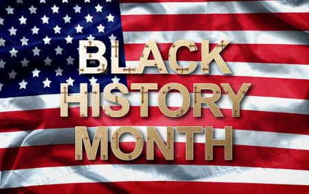 Hintergrunddesign des schwarzen Geschichtsmonats (afroamerikanischer Geschichtsmonat) für Feier und Anerkennung im Monat Februar. Standard-Bild