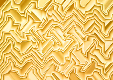 abstract yellow graphic line wave shape for background Stock Photo
