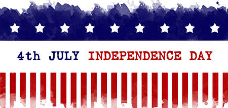 Independence Day greeting card american flag grunge background Banco de Imagens
