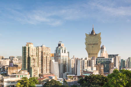 developement: Macau island has a very high population density reflected in the very crowded residential area mixed with casinos and office towers