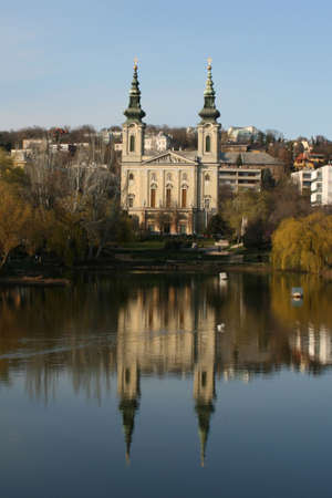 bottomless: bottomless lake and a church in Budapest