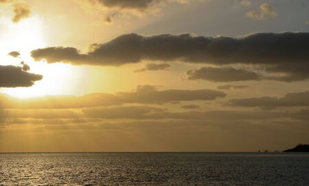 carribean: Sunset over the Carribean Ocean