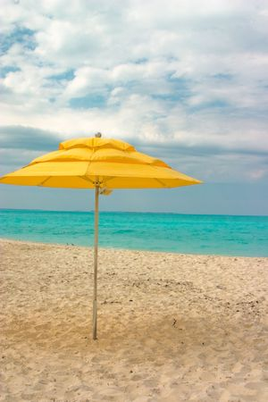 yellow sun umbrella Stock Photo - 3270412