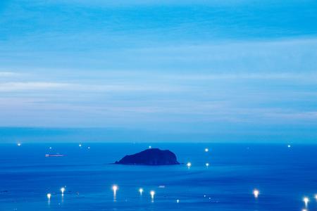 jiufen: A night of a small island in the ocean in Jiufen Taiwan