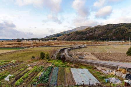 farming area: rural farming area in Kyoto Japan countryside