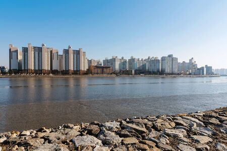 seafronts: buildings along a seafront in Incheon South Korea Stock Photo