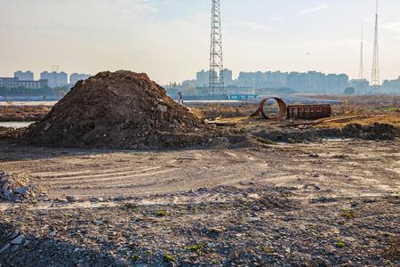 wasteland: wasteland on the city outskirts of Ningbo China