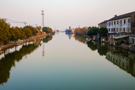 water town: Ancient water town in Ningbo China