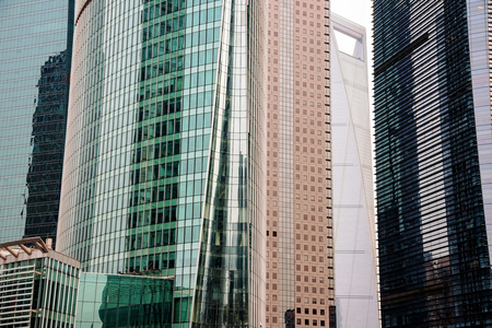 financial district: office buildings in Shanghai financial district